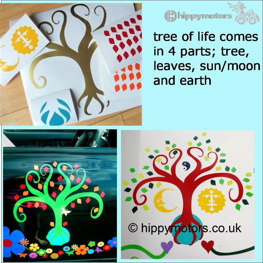 life tree earth sticker decal car graphics hippy motors