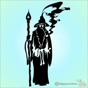 Merlin wizard vinyl car decal sticker hippy motors