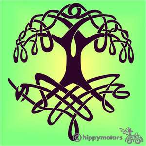 Celtic tree of life vinyl decal for cars or caravans
