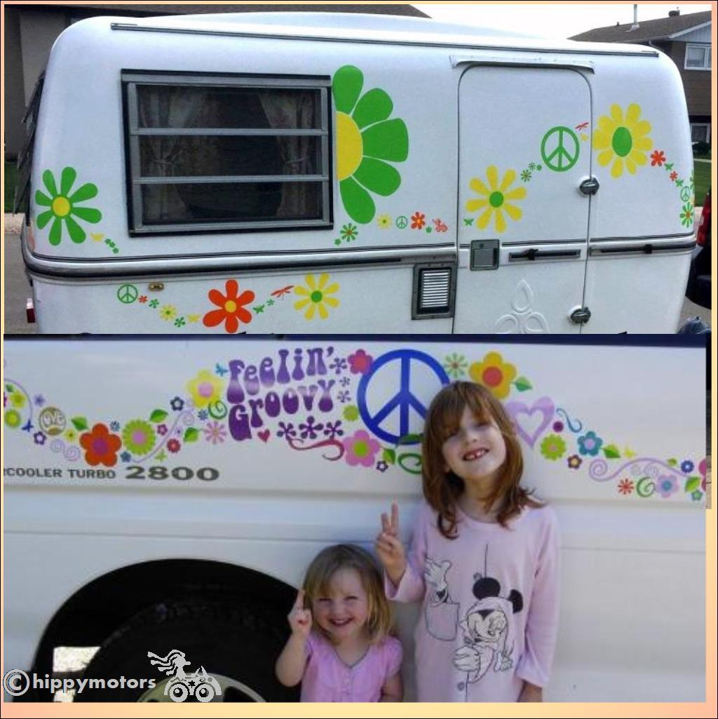 cnd peace camper van sticker and caravan decal s