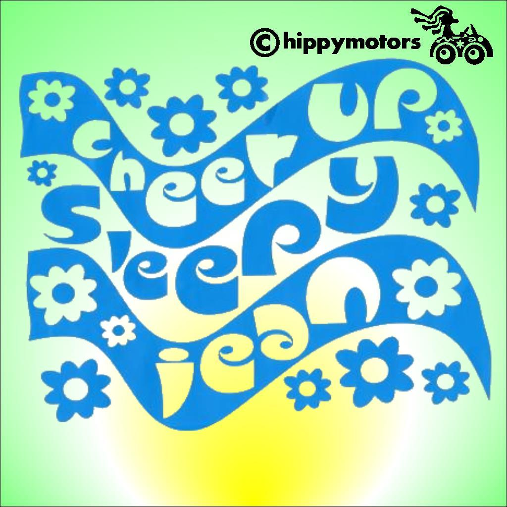 Monkees cheer up sleepy jean vinyl sticker for vehicles windows
