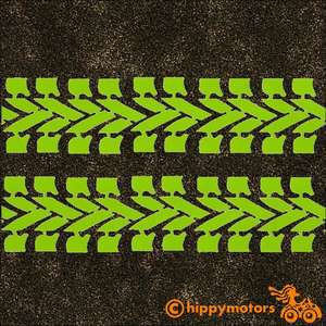 Bike tyre track vinyl stripe decals for vehicles camper vans