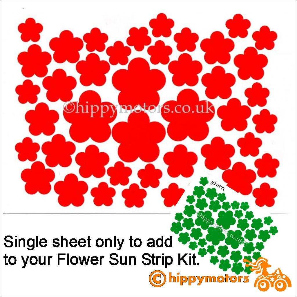 flower window sticker sheet