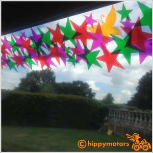 colourful star sunstrip for cars, vans and motorhomes