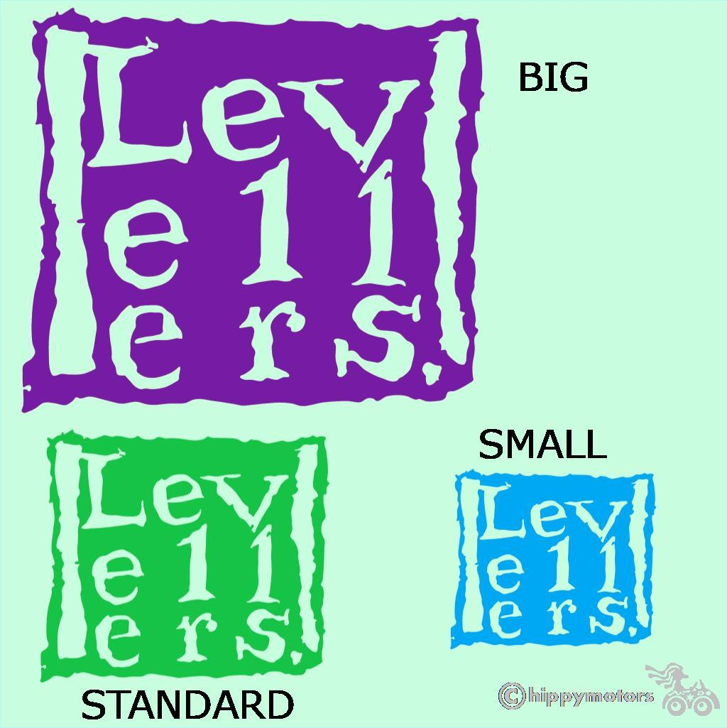 Levellers logo transfer sticker for camper vans and cars