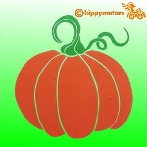 Vinyl decal car sticker of a pumpkin