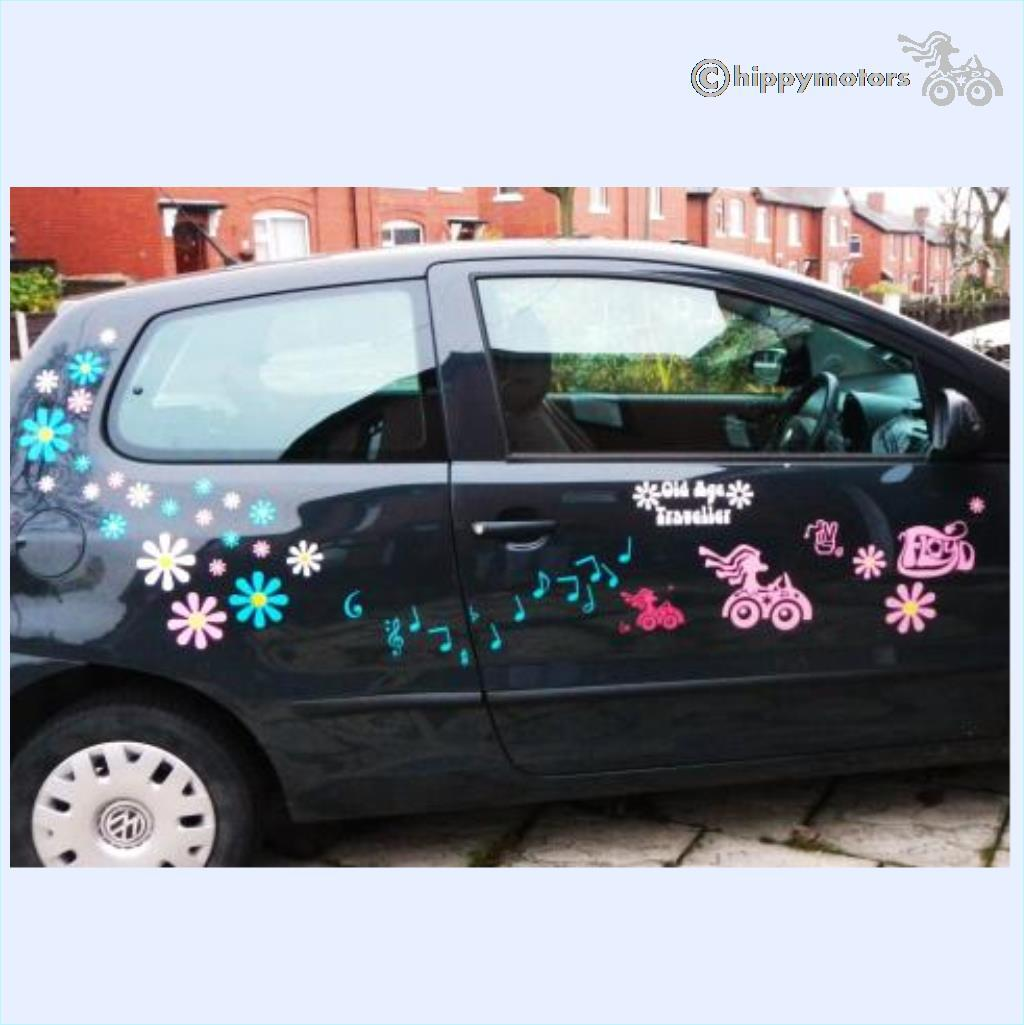 pink floyd car sticker music note decals and kokopelli transfer