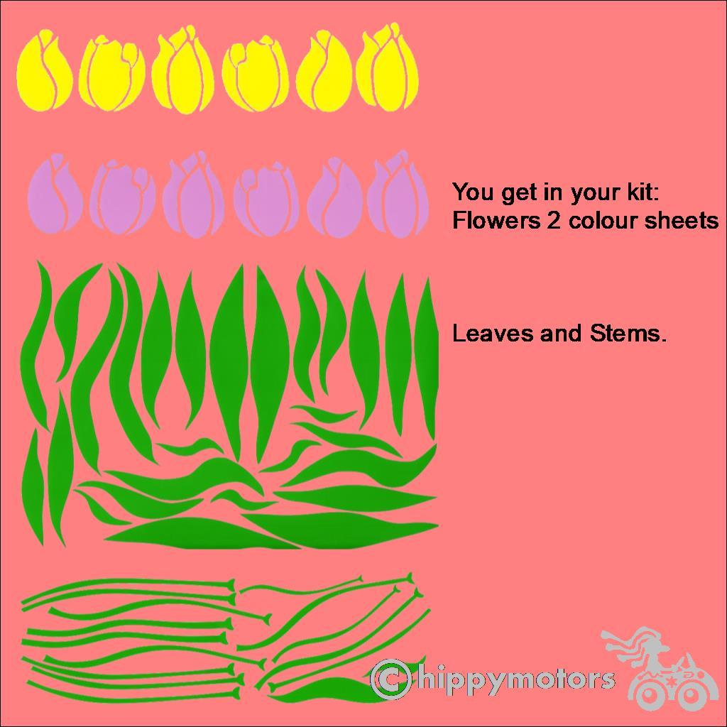Tulip Decal kit