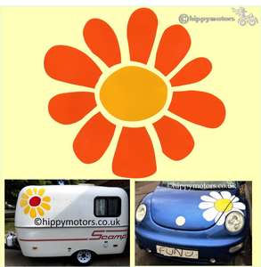 big daisy decal for caravans motor homes and cars
