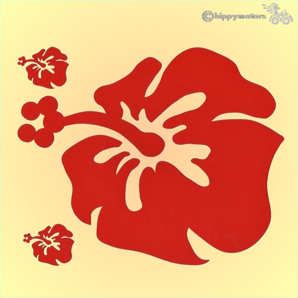 big Hibiscus Flower vinyl car sticker camper van decal