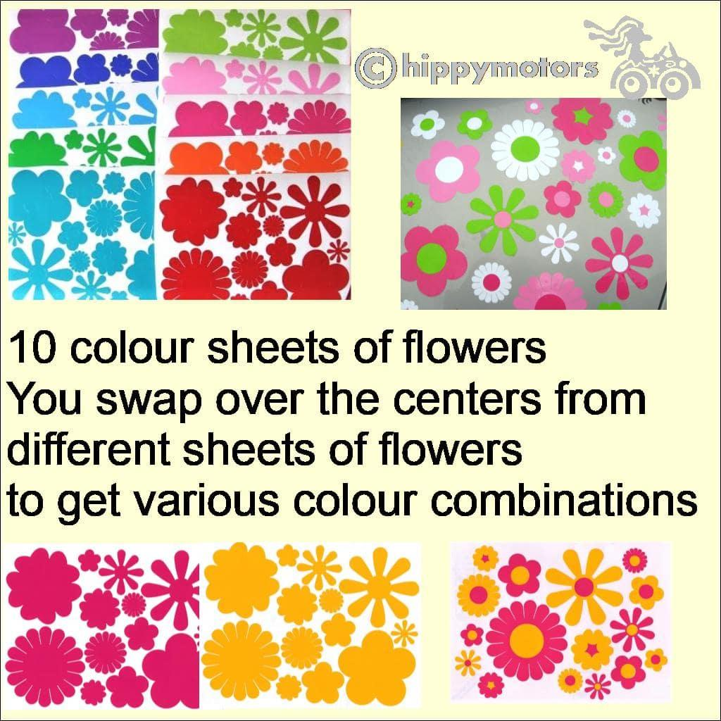 help for applying flower stickers colour combinations