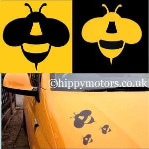 bee decal for caravans and cars by hippy motors