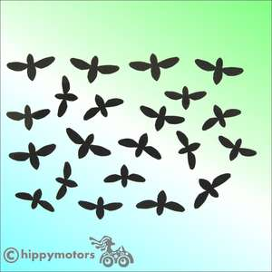 Fly vinyl car decals