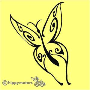 Tribal style Butterfly Decal for camper vans and caravans