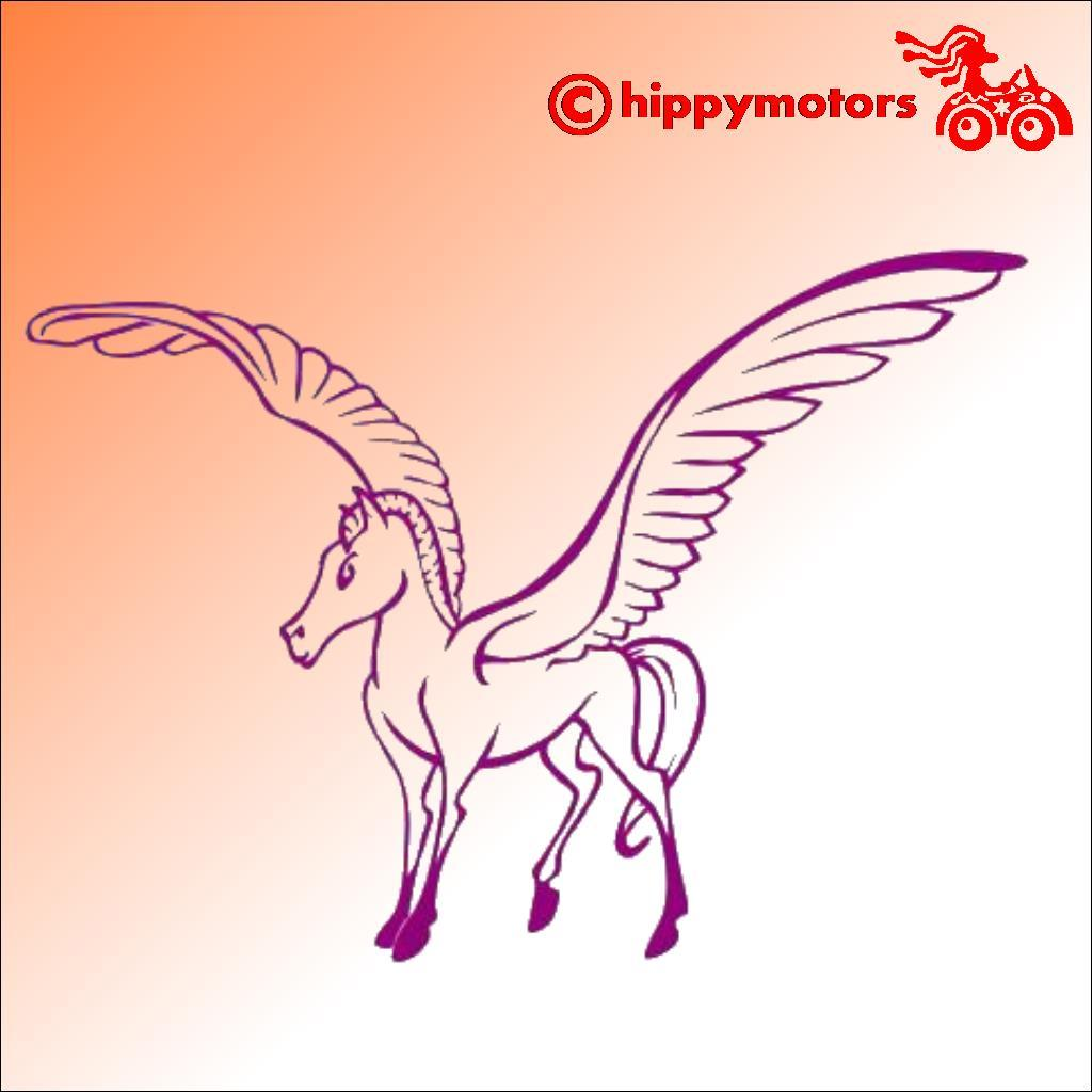 pegasus car sticker camper van window decal hippy motors