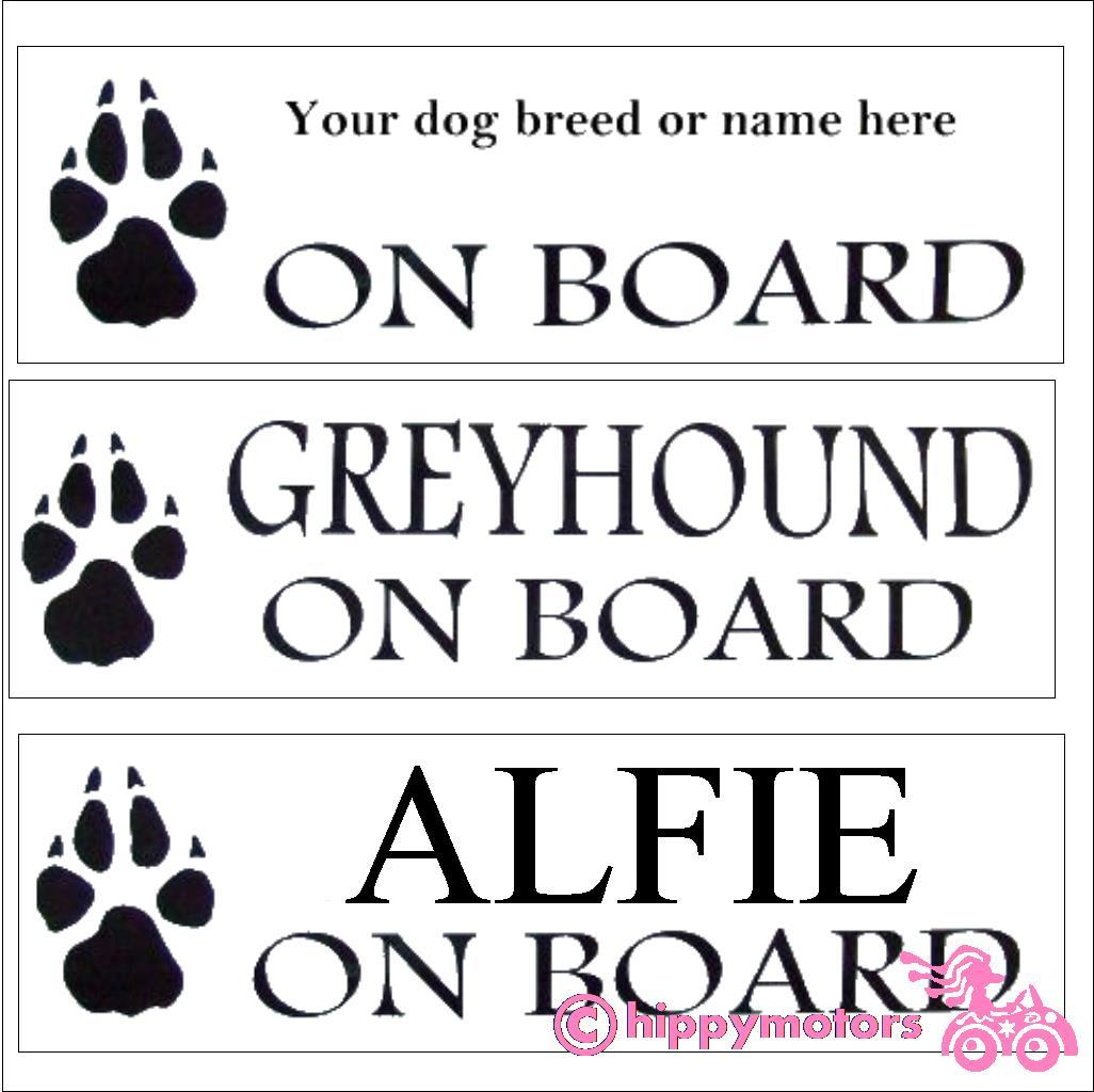 your dog on board add your own text decal