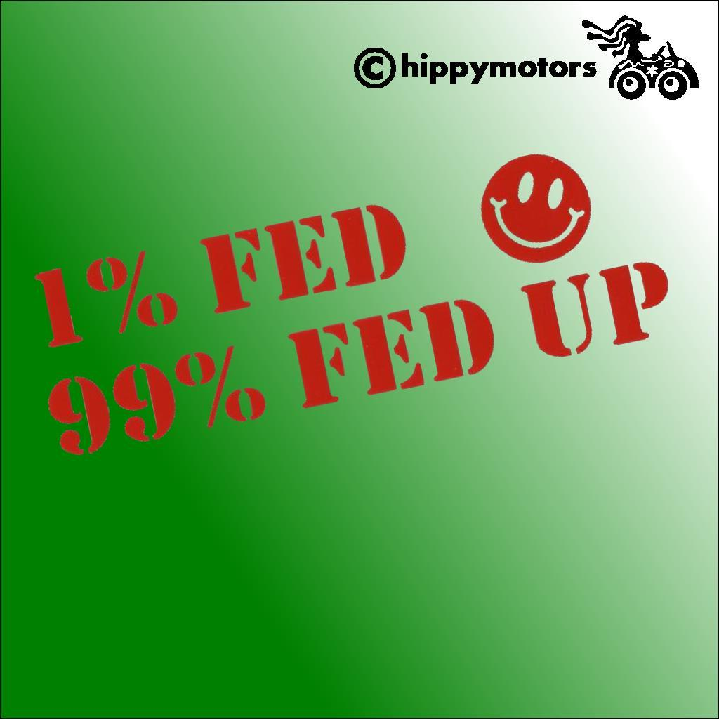 fed up protest vinyl car decal