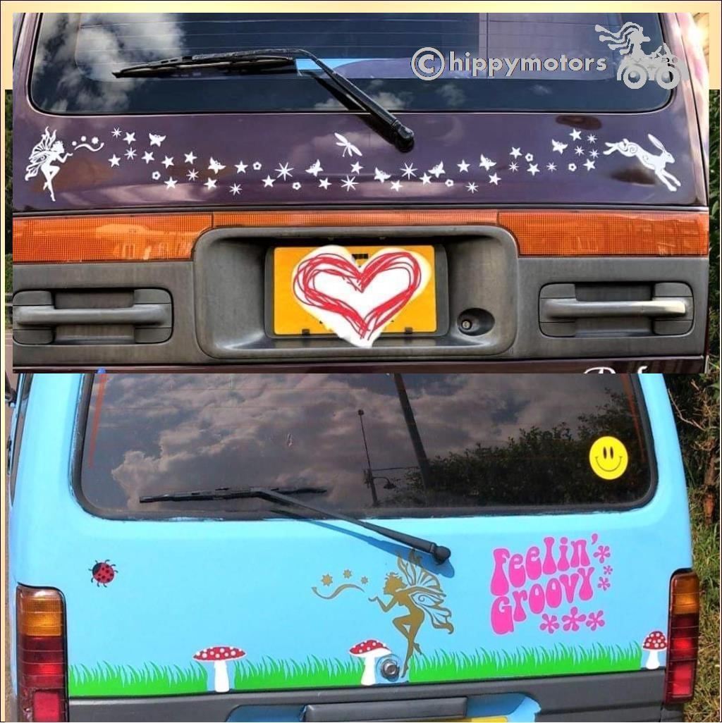 fairy star car graphics sticker hippy motors