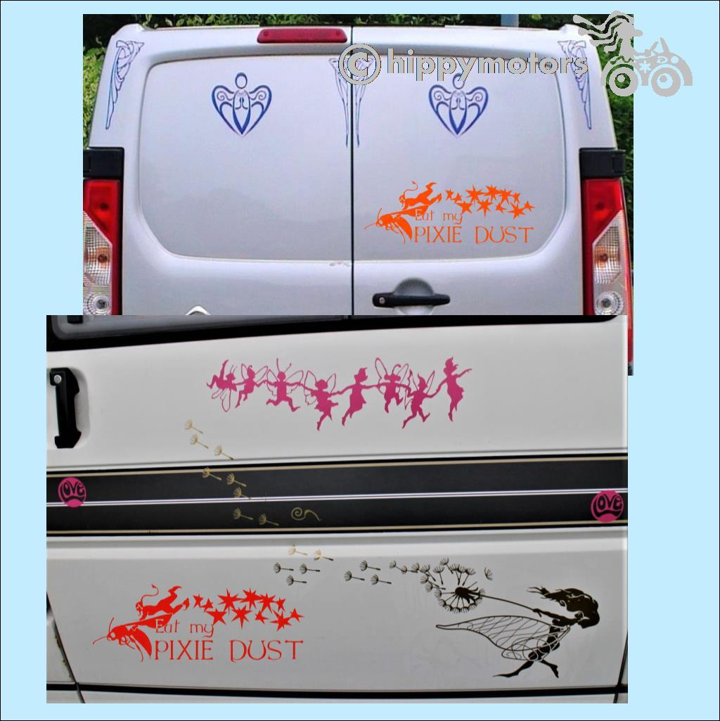 pixie dust van vinyl sticker hippy motors