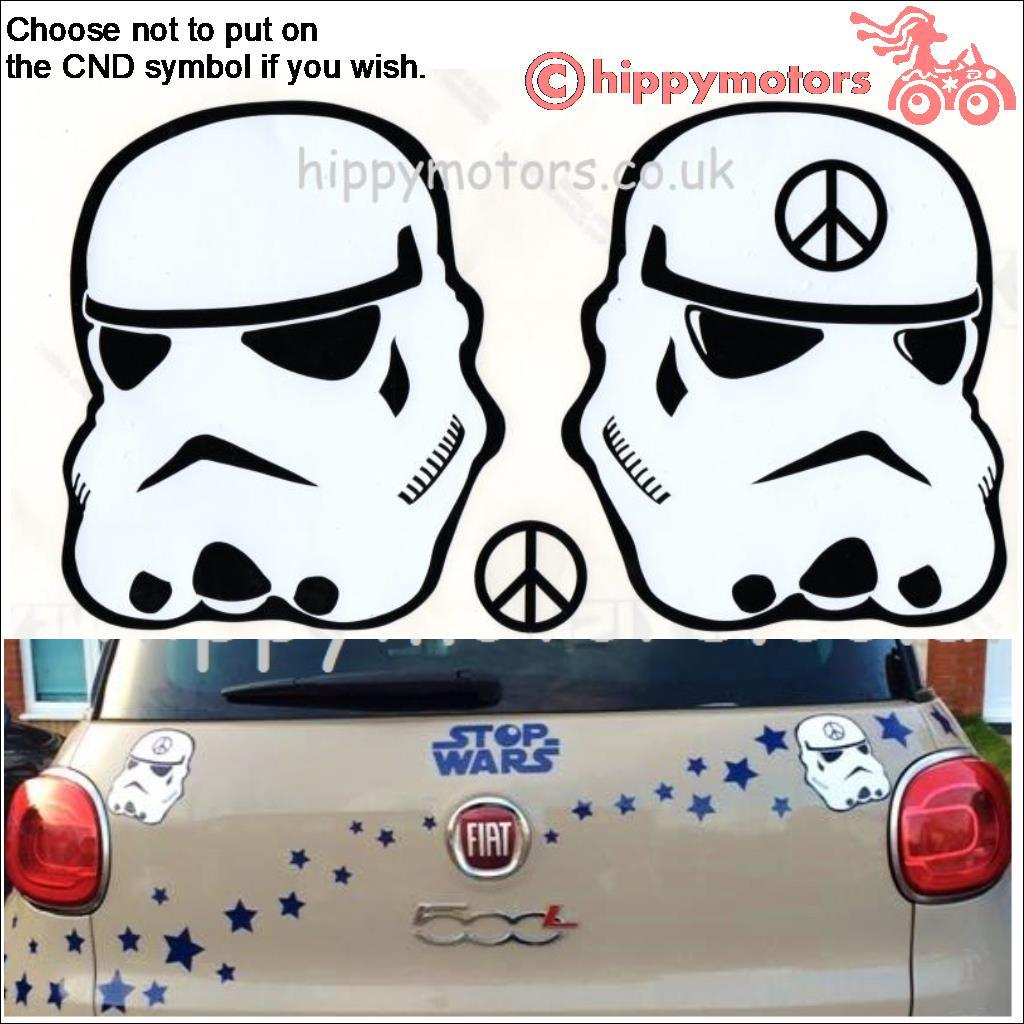 Star wars stoomtrooper decal on car