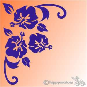 corner hibiscus vinyl car sticker graphics