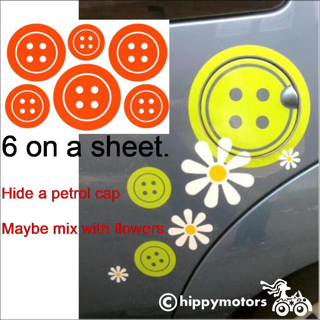 button vinyl decal transfers for caravans camper vans