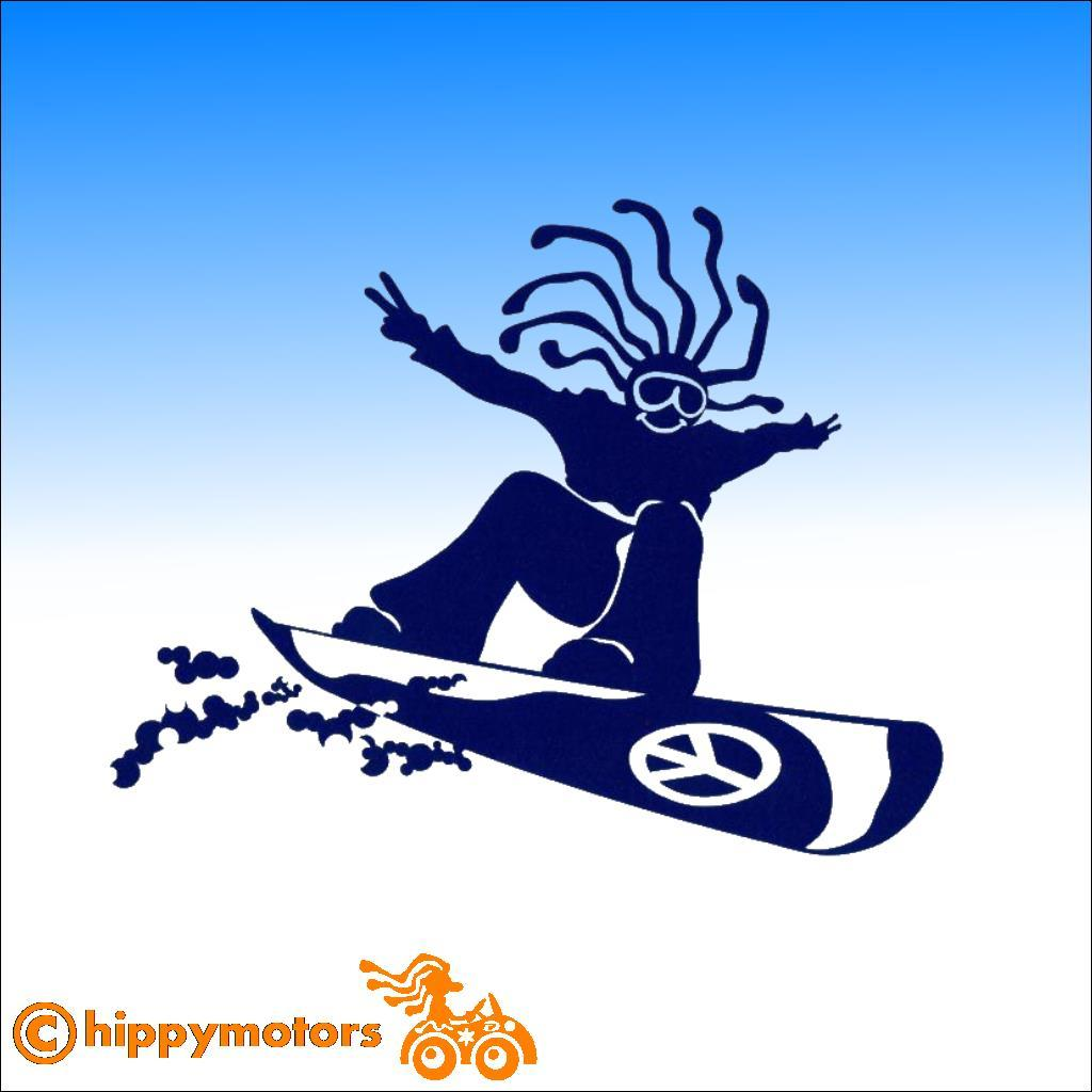 Hippy Snowboarder Decal