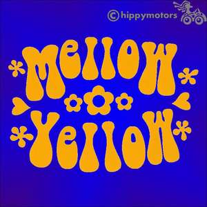 mellow yellow vinyl sticker for cars windows walls