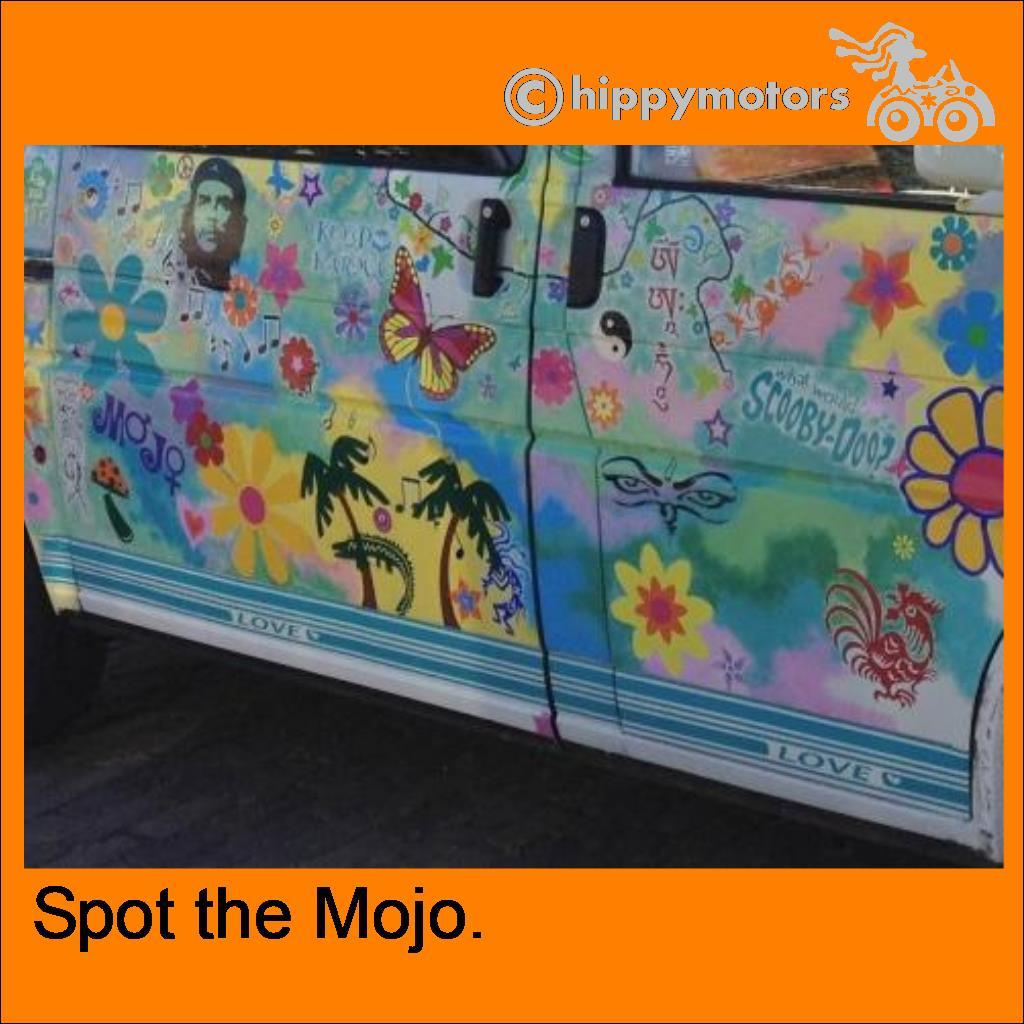 stickers on hippy van
