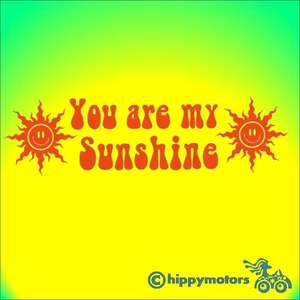 you are my sunshine car vinyl decal for vehicles walls windows