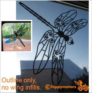dragonfly glass window decal sticker
