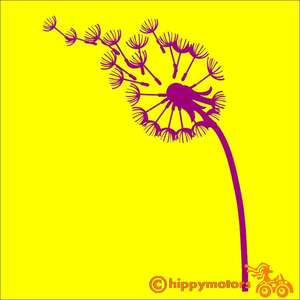 Dandelion Clock Vinyl car sticker