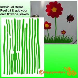 vinyl flower stems stickers for cars