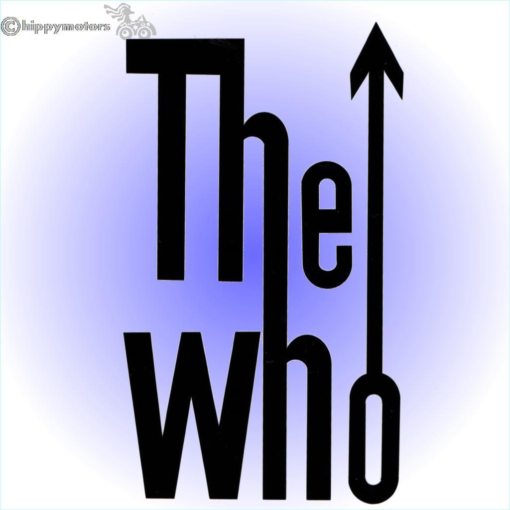 the Who car sticker window decal transfer for vespas scooters mopeds