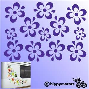 Flower decals for vehicles
