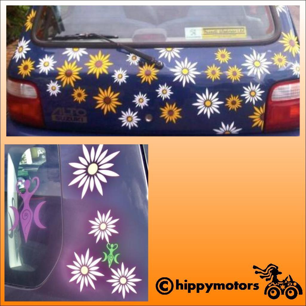 Daisy car decals on cars