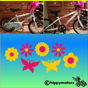 flower and butterfly decals for bikes