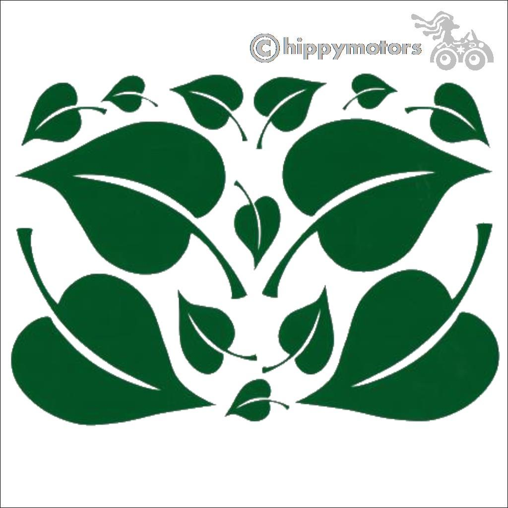 beanstalk leaf decals for cars and vans