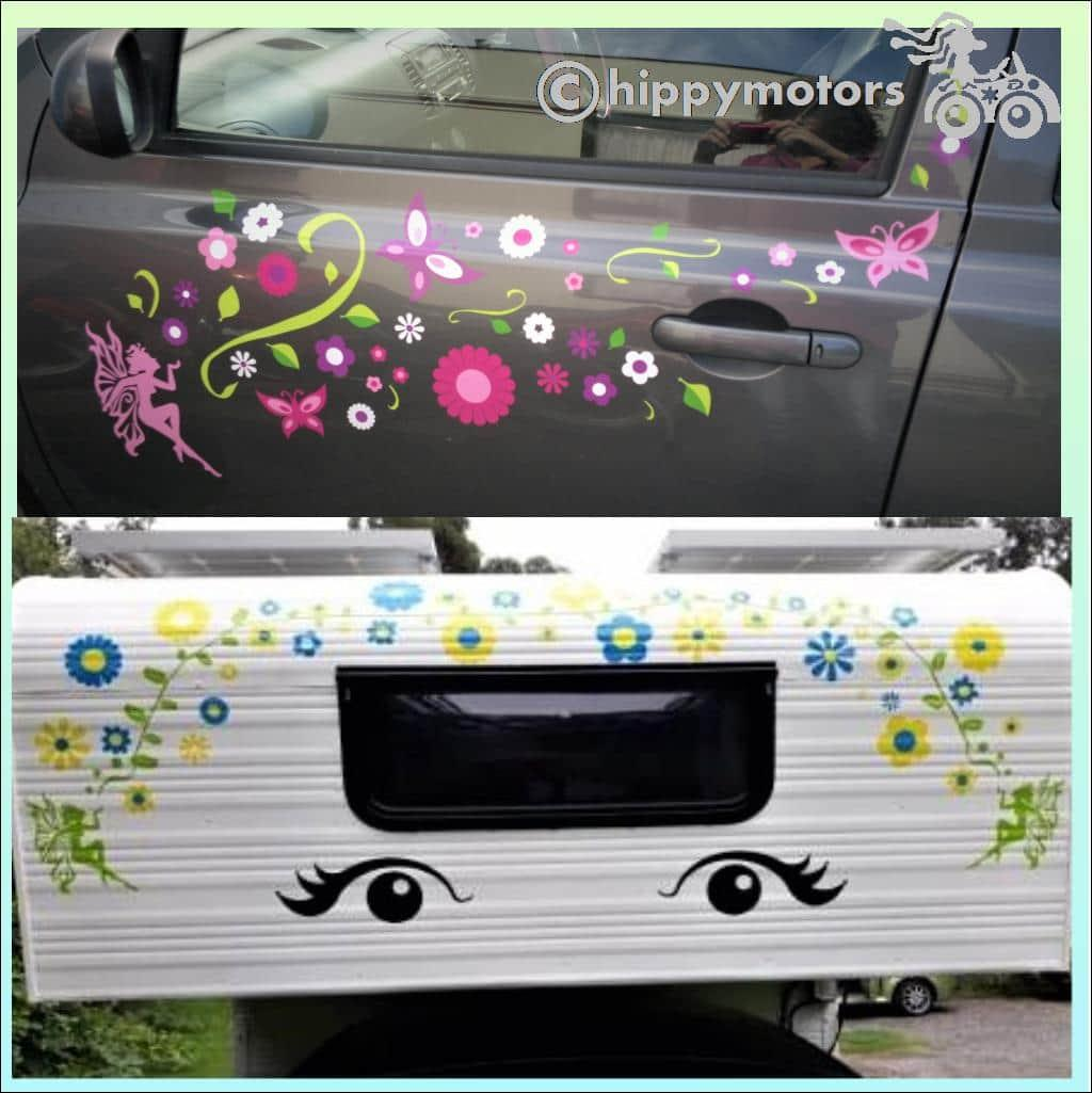 fairy kiss caravan transfer vine flower stickers