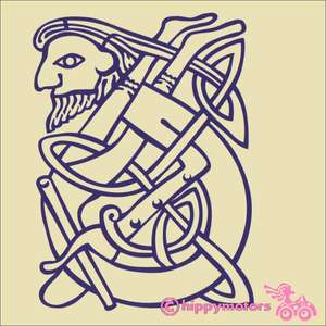Celtic man knot work decal