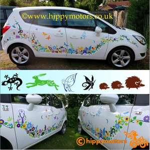 wildlife woodland vinyl sticker kit for cars caravans