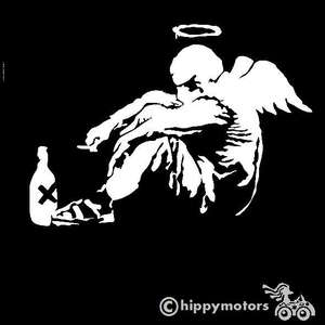 banksy angel car graphics vinyl sticker