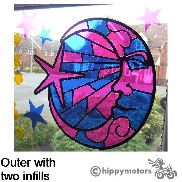 Stained Glass Look vinyl window decal
