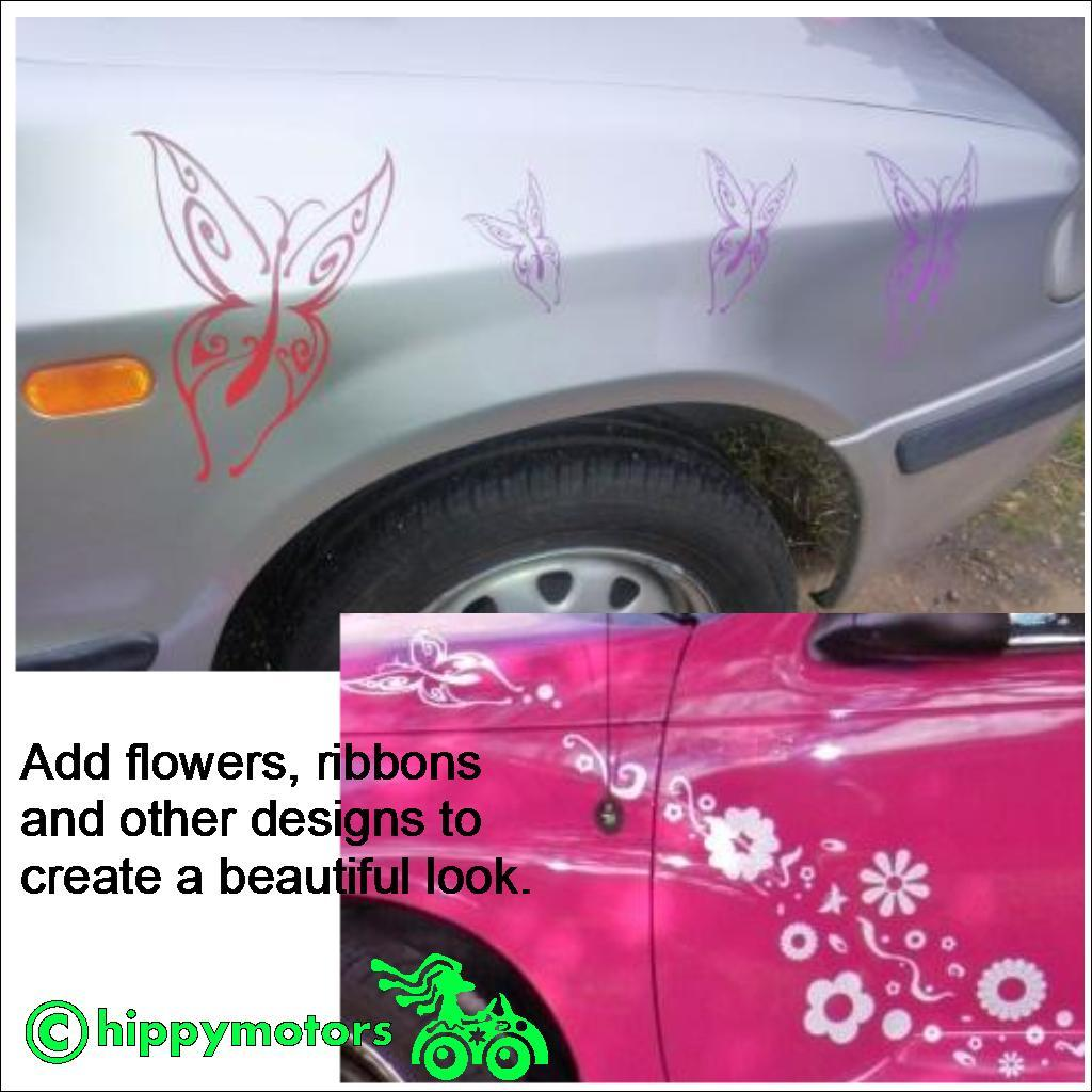Tribal Style Butterfly stickers on cars