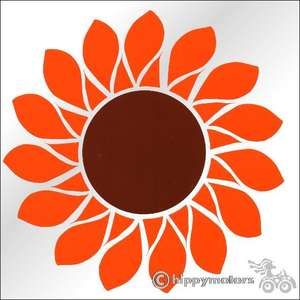 sunflower vinyl car sticker window decal