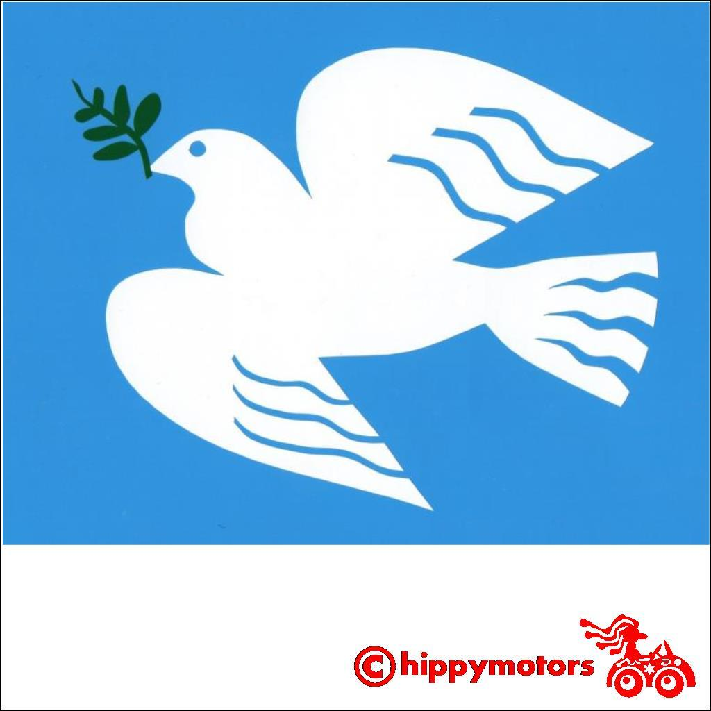 Peace Dove decal for cars