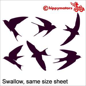 Swift Housemartin car stickers
