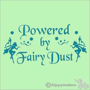 powered by fairy dust car caravan decal sticker