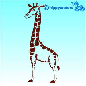 Giraffe vinyl decal for cars caravans windows