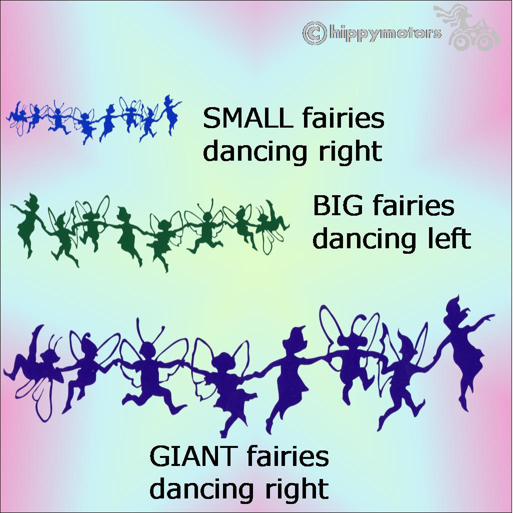 fairy caravan camper van stickers decals hippy motors